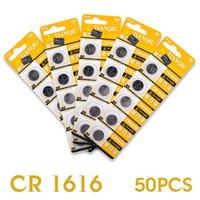 Wholesale 50PCS V Watch Mini Lithium Button Coin Cells Batteries CR1616 BR1616 ECR1616 LC DL1616 EE6270