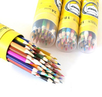 Wholesale True color Children color pencil barrel PACKING colour Graffiti Color pencil paint brush KIDS GOOD FRIENDS AND HELPER