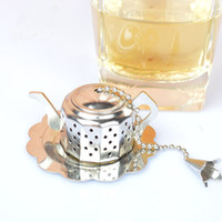 Wholesale High Quality Stainless Steel Teapot Tea Shape Infuser StrainerTool Holder Loose Tea Filter Cute Teapot Shape MOQ
