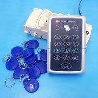 al por mayor sistema de etiquetas rfid-Precio especial barato 10PCS 125khz rfid etiqueta + RFID Proximidad tarjeta de control de acceso del sistema RFID / EM Keypad tarjeta de control de acceso abrepuertas