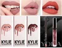 Wholesale 16 Colors Kylie Lip Kit by Kylie jenner Lip gloss non stick cup labial line pen suits Set Colors