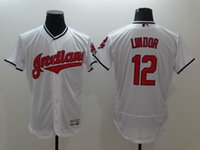 Wholesale Cleveland Indians baseball jersey flex base jerseys arenado story VAUGHN lofton FELLER CABRE brantley lindor PAIGE blank shirt shirts tops