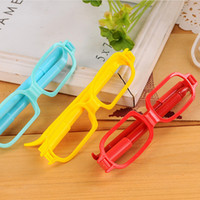 Wholesale Ballpoint Pen Cartoon Pen Cute Glasses ballpen New Novelty glasses ball pen office and study pens ballpoint pen E985