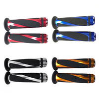 Wholesale 1 Pair Universal Motorcycle Sports Bikes Bicycle Aiuminum Handle Rubber Gel Hand Grips Color for Choose