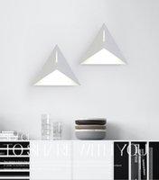 beautiful wall lights - Fashionable Geometry Wall light W led light Contemperary Sitting room light White color Super Bright light Beautiful style
