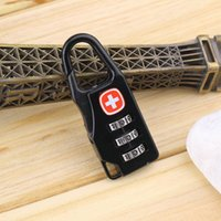 Wholesale Swiss Cross Symbol Combination Safe Code Number Lock Padlock for Luggage Zipper Bag Backpack Handbag Suitcase Drawer Cabinet