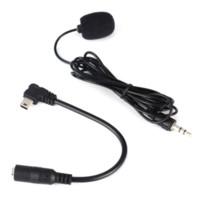 Para GoPro 1 2 3 3 + 3,5 mm Activo clip de micrófono Micrófono + Mini USB a 3,5 mm de micrófono al cable del adaptador del cable del micrófono para la cámara de Deportes