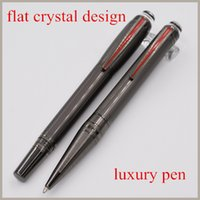 Wholesale 2016 Starwalker Gray Precious Resin PVD Plated Fittings With Brushed Surfaces Characteristic Clip Roller Ball Pen Ballpoint Pen