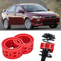 auto parts suspension - 2pcs Super Power Rear Car Auto Shock Absorber Spring Bumper Power Cushion Buffer Special For Mitsubishi Lancer Auto Parts