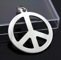 stainless steel rope - Fashion necklaces Peace Anti War Pendant L Stainless Steel necklace pendant Drop Charm women men jewelry