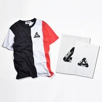 Men active tee - Palace Skateboard VERTICAL TRI STRIPE suprem t shirts Fashion Palace Tee Hip Hop O neck Short Sleeve Palace Skateboard T Shirt