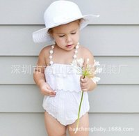 baby pants crochet - 2016 INS baby girl kids toddler hollow Lace romper onesies bloomers diaper covers Jumpsuits Crochet Ruffles dress pants shorts press buttons