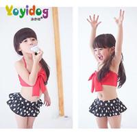 Wholesale New Korean Baby Girls Bikini Kids Girl Swimwear Baby Swimsuit Ruffle Bow Princess Three Pieces Swim Cute Clothing