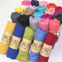 Wholesale fashion fade distressed cotton scarf Fashion New Design Brand solid color Women Cotton Femal scarf