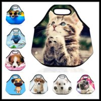 adult dog food - Waterproof Lunchbox Bag Insulated Neoprene Picnic Bag Cat Cooler Bag Dog Meal Bag Outdoor Necessary Food Storage Kids Adult Back to School