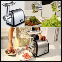 automatic vegetable slicer - household meat grinder electric meat slicer cutter stainless steel automatic sausage filler vegetable mincer chopper machine