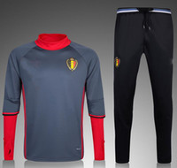 best training cup - Best quality Belgium training suit Europe cup national team Belgian Football Sportswear Set skinny pants