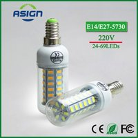 Wholesale LED Corn Bulb E27 E14 SMD LED Bulbs Lamp leds leds leds leds leds V V Degree LED Corn Bulb Light Chandelier