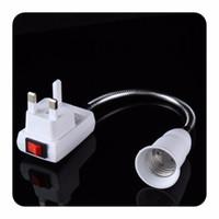 Wholesale E27 Light Bulb Socket Adaptor Flexible Extension LED Lamp Base Switch Holder US EU UK Plug