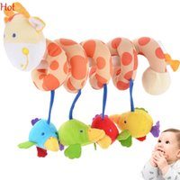 Wholesale Music Long Soft Birds Dear Baby Rattle Hanging Toy Stroller Crib Hanging Rattle Mobile Products Cute Plush Animal Toys SV009424