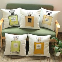 Wholesale New Arrival Sexy Lady Perfume Cushion Girl Throw Pillows Case Polyester Cotton Linen Pillowcase Perfume Cojines Capa Para Almofada