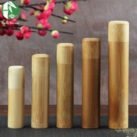 airtight canisters kitchen - Mini Bamboo Tea Storage Box Kitchen Spices Jar Airtight with lid Style Handmade Incense Tube Portable Traveling Canister