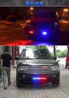 Wholesale 2016new W v Strobe Warning Light Bar Daytime Running Lights Red Blue Led Police Emergency Light