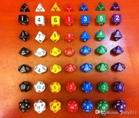 Wholesale Dungeons and Dragons Game MM D4 D6 D8 D10 D12 D20 Dice and D D dice set with bag one set