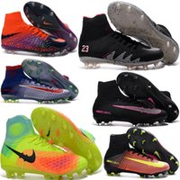 Soft Spike Unisex Outdoor Cheap Soccer Shoes Mercurial Superfly V FG Men High Quality 2016 ACC CR7 Hypervenom Phantom Football Shoes Cleats Cheap Sports Boots