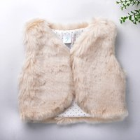 Wholesale New Arrival baby Girls Faux Fur vest baby clothing Cute Outerwear baby girl clothes children clothing warm vest