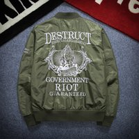 Wholesale 2016 Men s Jacket Army Flight Bomber Baseball uniform Jacket Coat printing Embroidered Outwear