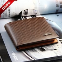 Wholesale 2015 Male Leather luxury wallet Casual Short designer Card holder pocket Fashion Purse wallets gifts for men
