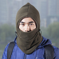 Wholesale MassMall Thermal Warm Fleece Full Face Mask Balaclava CS Mask Head and Neck Cover Warmer Windproof Hooded Scraf Hat for Winter Outdoor Sport