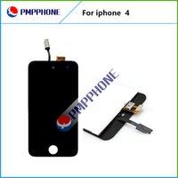 20 pcs / lot expédition rapide LCD avec verre Digitizer écran tactile de remplacement pour iPhone 4 4G