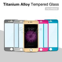 alloy box cover - For iphone s plus d curved Radian H Full screen Titanium Alloy Tempered Glass cover anti shock film color Front retail box