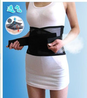 Wholesale Adjustable Tourmaline Self heating Magnetic Therapy Waist Belt Lumbar Support Back Waist Support Brace Double Banded aja lumbar