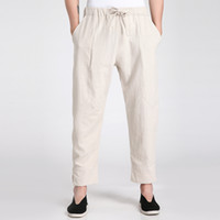 Wholesale Chinese traditional national pants kung fu pants hakama martial arts pants tai chi pants for men China trousers Color