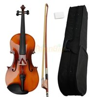 Wholesale New quot Full Professional Adult Maple Acoustic Viola Case Bow Rosin Brown