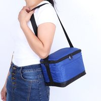 Wholesale Insulated Lunch Bag Lunch Box with Adjustable Shoulder Strap Lunch Tote Hand Bag Box Cooler Bag Freezable Keep Food and Drinks Cool