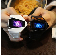 aircraft electronics - New aircraft model digital LED watch multi function electronic alarm clock luminous color watches sports love s watches