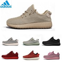 Cheap Adidas Yeezy Boosts 350 Kanye West Yeezy 350 Classic Black 350 Men Tan Yeezy Trainers Shoes Perfect 2016 Yeezy 350 With Original Box