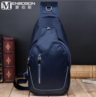 Wholesale The factory direct selling brand of mens fashion leisure bag chest pack new waterproof easy Korean Mens Shoulder Bag Canvas sport bag