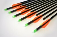 Wholesale 6 pc Quality shooting archery practice Decent Fiberglass Arrows with Changeable Steel Point for Hunting Compound Bow