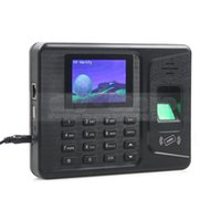 Wholesale 2 inch LCD Color Biometric Fingerprint Time Attendance Digital Electronic Reader Machine Clock Employee Payroll Realand