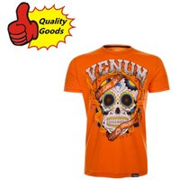 Wholesale Quality goods UFC MMA SANTA MUERTE T shirt Muay Thai boxing T shirt orange