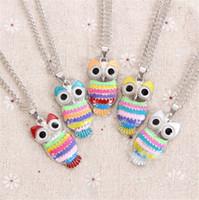 Bijoux Owl Vintage Pendentif Collier Mode Déclaration Femmes Mesdames Colliers Owl Pendentifs Charms Filles Cadeaux gros nouvelle chaude