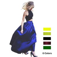 american line - Women Maxi Skirt Plus size XL XL American Apparel CM Long Pocket Zipper Skirts Elegant High Waist Jupe faldas largas verano mujer