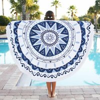 wall hanging tapestry - 2016 Hippie Round Mandala Tapestry Indian Wall Hanging Boho Beach Throw Leaf Yoga Mat styles