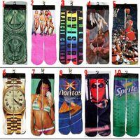 Cheap 3d socks Star Wars kids women men hip hop socks 3d odd socks cotton skateboard socks printed gun emoji tiger skull socks Unisex socks
