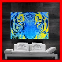 Wood Fiber Wallpaper art paper sizes - Eye of the Tiger Poster print wall art picture parts giant huge size NO434